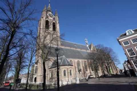 De+oude+kerk+in+Delft